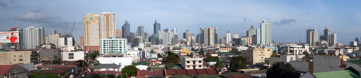 Manila City Philippines Panorama Stock Image