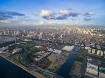 Manila Cityscape, Philippines. Bay City, Pasay Area. Skyscrapers in Background. Manila Cityscape, Philippines. Bay City, Pasay Area royalty free stock images