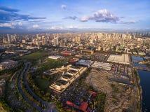 Manila Cityscape philippines härlig cityscape Arkivfoton