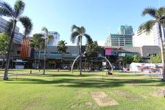 MANILA - 17 DE MAYO: Bonifacio High Street bloquea el mostl de las características Imagen de archivo