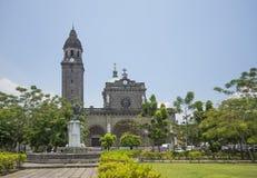 Manila domkyrka i philippnes Arkivbilder