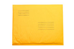 Manila Envelope. Isolated on white background with clipping path royalty free stock photo