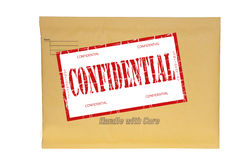 Manila envelope stamped confidential Stock Images