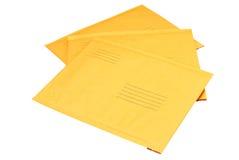 Manila Envelopes Isolated Stock Photos