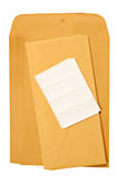 Manila Envelopes & Labels Stock Image