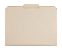 Manila File folder Stock Photo