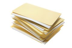 Manila File Folders Royalty Free Stock Images