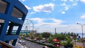 Manila fjärd med färjahjulet arkivfilmer