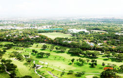 Manila Golf Club. An aerial view of the Manila Golf Club Royalty Free Stock Photography