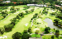 Manila Golf Club. An aerial view of the Manila Golf Club Royalty Free Stock Photo