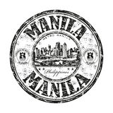 Manila grunge rubber stamp Royalty Free Stock Photos