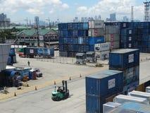 Manila hamn, Filippinerna fotografering för bildbyråer