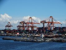 Manila hamn, Filippinerna royaltyfria foton