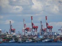 Manila hamn, Filippinerna royaltyfria bilder