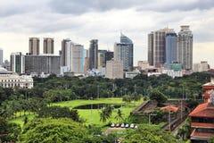 Manila horisont arkivfoto