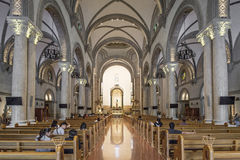 Manila katedralny wnętrze w Philippines obrazy stock