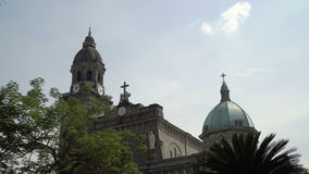 Manila-Kathedrale, Intramuros stock footage
