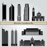 Manila landmarks and monuments royalty free illustration