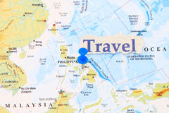 Manila on a map Stock Images