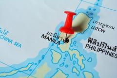 Manila map Stock Images