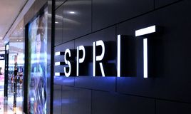 Manila, 22 March 2018 - Esprit shop name entrance in SM Mall of Asia shopping center. Casual fashion store brand in mall stock images