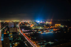 Manila na noite Imagem de Stock