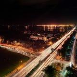 Manila natt royaltyfria foton