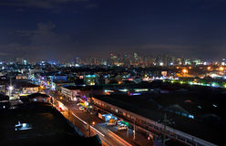 Manila night cityscape Royalty Free Stock Photo