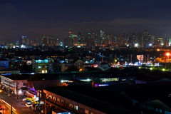 Manila night cityscape Royalty Free Stock Image