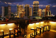Manila nocy linia horyzontu Obrazy Royalty Free