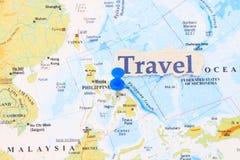 Manila på en kartlägga arkivbilder