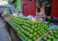 Fresh mango fruits for sale at street market royalty free stock photos