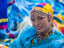 2018 Aliwan Fiesta. MANILA , PHILIPPINES - APRIL 27 :Participant in the Aliwan fiesta in Manila Philippines on April 27 2018. Aliwan Fiesta is an annual event Royalty Free Stock Photography