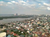 Manila Philippines. City airplane shoot stock images