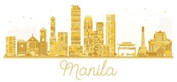 Manila Philippines City skyline golden silhouette. Royalty Free Stock Image