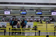 Interior of Manila Airport in Philippines stock images