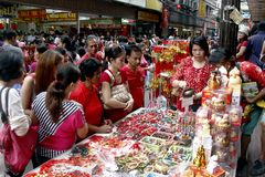 Chinese New Year in Manila Chinatown royalty free stock photos