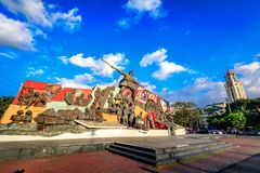 Katipunan (KKK) Monument in Manila, Philippines. Manila, Philippines - Feb 4, 2018 : Katipunan (KKK) Monument in Manila, Philippines. The Katipunan was a Royalty Free Stock Images