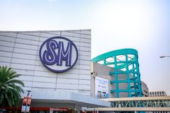 Main gate of Mall of Asia in Pasay, Manila city. Manila, Philippines - Feb 10, 2018 : Manila, Philippines - Feb 10, 2018 : Main gate of Mall of Asia in Pasay Royalty Free Stock Image