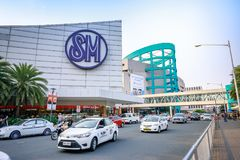 Main gate of Mall of Asia in Pasay, Manila city. Manila, Philippines - Feb 10, 2018 : Manila, Philippines - Feb 10, 2018 : Main gate of Mall of Asia in Pasay Stock Photos