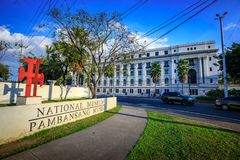 National Museum of Anthropology signboard near Rizal park in Met. Manila, Philippines - Feb 4, 2018 : National Museum of Anthropology signboard near Rizal park Royalty Free Stock Photos