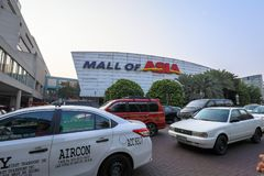 Signboard of Mall of Asia shopping mall in Pasay, Manila city. Manila, Philippines - Feb 10, 2018 : Signboard of Mall of Asia shopping mall in Pasay, Manila city Stock Images