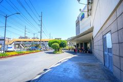 Street view beside of Alabang town center in Manila city. Manila, Philippines - Feb 24, 2018 : Street view beside of Alabang town center in Manila city royalty free stock images