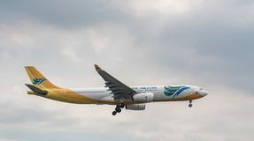 MANILA, PHILIPPINES - FEBRUARY 02, 2018: Cebu Pacific Airlines Airbus A330 RP-C3342 Landing in Manila International Airport. Cebu Pacific Airlines Airbus A330 RP Stock Photography