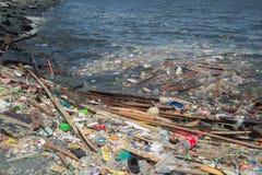 Free Manila, Philippines - May, 18, 2019: Ocean Plastic Pollution In Manila Bay Shore Royalty Free Stock Photos - 149765228