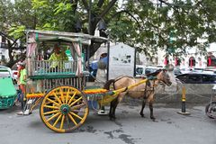Manila horse carriage Royalty Free Stock Photos
