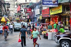 Chinatown in Manila Royalty Free Stock Photo