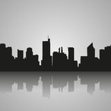 Manila Philippines skyline silhouette, black and white design, vector illustration stock illustration
