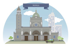 Manila, Philippines. Vector for you design royalty free illustration