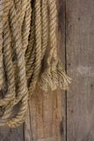 Manila Rope. Hang On The Woof Wall in Farmhous Stock Images